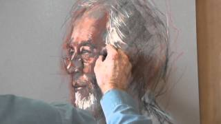 getlinkyoutube.com-Portrait Profile in Pastel from Life by Rob Wareing