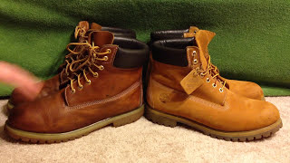 getlinkyoutube.com-How to spot FAKE Timberland boots comparison 6' Wheats Cheap vs Real