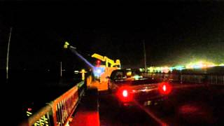 Pelican Bridge night Sign Install