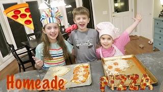 🍕 KIDS MAKE PIZZA!🍕