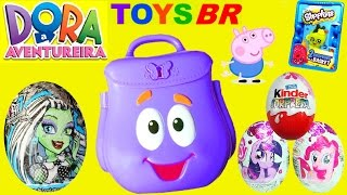 getlinkyoutube.com-TOYSBR Mochila Falante da Dora a Aventureira | Dora the Explorer Talking Backpack Surprise Toys Eggs