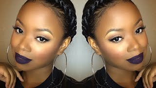 getlinkyoutube.com-Easy Spring Granny Braid Tutorial | Protective Style