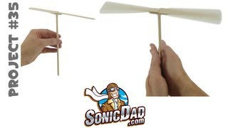 getlinkyoutube.com-How to Make a Helicopter from Popsicle Sticks - SonicDad Project #35