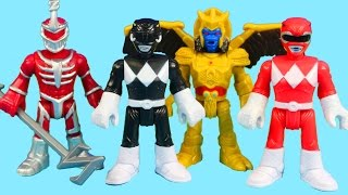 getlinkyoutube.com-Imaginext Mighty Morphin Power Rangers Save The Imaginext Fire Station From Goldar And Zedd