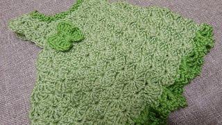 Vestido para Bebe 0 meses Crochet Pistache