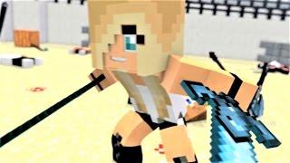 "Minecraft Song ""Tough Girls Fight"" Psycho Girl 5 - Psycho Girl VS Herobrine Minecraft Song"