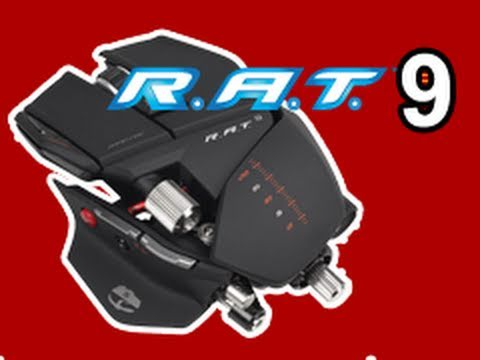 MadCatz CYBORG R.A.T. 9 Wireless Gaming Mouse Unboxing &amp; Review! Demo!