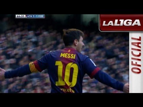 Golazo de Messi (1-1) en el Athletic Club - FC Barcelona - HD