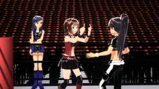 getlinkyoutube.com-【MMD】 WRESTLEM@STER 765 - Match 05