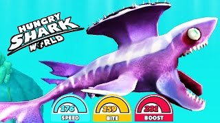 getlinkyoutube.com-MAX STATS STETHACANTHUS SPIKE (HUNGRY SHARK WORLD)