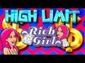 HIGH LIMIT! LIVE PLAY on Rich Girl Slot Machine with Diamond Run Bonuses
