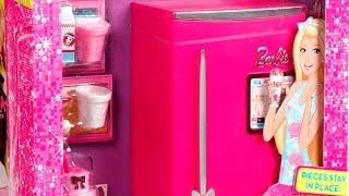 getlinkyoutube.com-Barbie Glam Refrigerator Furniture Set / Lodówka Barbie - Stylowe Mebelki - www.MegaDyskont.pl
