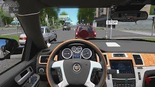 getlinkyoutube.com-City Car Driving - Cadillac Escalade ESV | Fast Driving