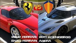 getlinkyoutube.com-Forza 5 - Enzo Ferrari vs Koenigsegg Agera on Catalunya Gameplay