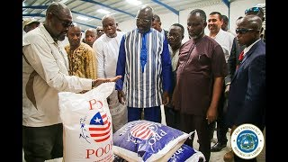 """Agriculture Is Key,"" President Weah says, As He Launches ""Pro Poor Rice"" Distribution"
