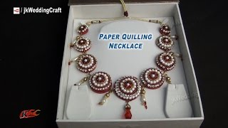getlinkyoutube.com-DIY Paper Quilling Bridal Necklace | How to make | JK Wedding Craft  050