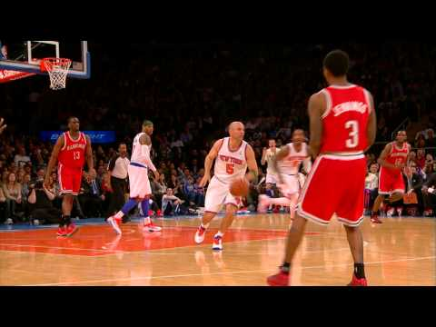 Jason Kidd's AMAZING 3/4 court three-pointer off glass!