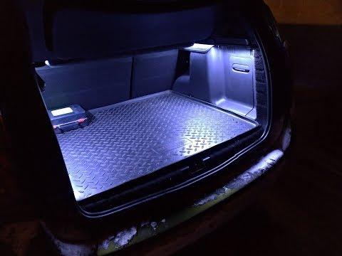 Renault Duster: Доработка подсветки багажника. LED освещение
