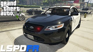 getlinkyoutube.com-GTA 5 LSPDFR Police Mod Day 34 | New Ford Police Interceptor | LSPD City Patrol