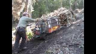 getlinkyoutube.com-Esbosco con motocarriola nibbi e slitta autocostruita trasporto legna