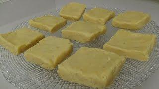 getlinkyoutube.com-Plain Burfi (Indian Milk Fudge Dessert)