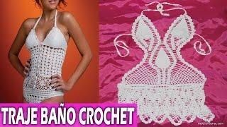 getlinkyoutube.com-Traje de baño para mujer tejidos en crochet - Diseños ideas