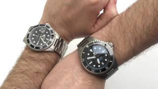 getlinkyoutube.com-Steinhart Ocean 1 Steel vs Titanium 500 Comparison Watch Review