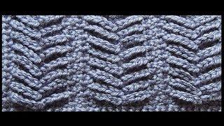 getlinkyoutube.com-Crochet : Punto Espiga