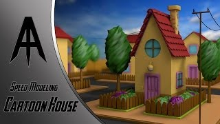 getlinkyoutube.com-Cinema 4D | Speed Modeling | Cartoon House