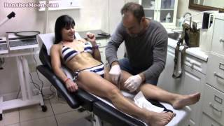 getlinkyoutube.com-Farm Girl gets cyst removed and now stitches removed from groin incision