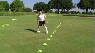 getlinkyoutube.com-First Touch Training Precision Dribbling Series: Volume 1 (Warmup 7 Excerpt)