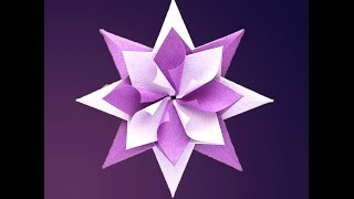 Easy and awesome origami star.  Оригами - звезда. Ideas for Christmas