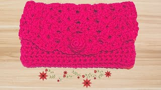 getlinkyoutube.com-How to Crochet a Clutch Purse