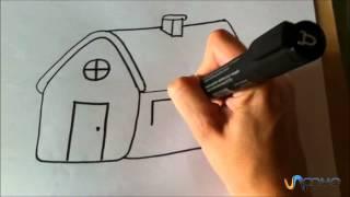 getlinkyoutube.com-Como desenhar uma casa animada