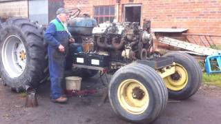 getlinkyoutube.com-FORDSON MAJOR V8 CONVERSION ( FIRST START IN TRACTOR )