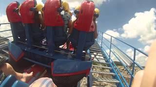 getlinkyoutube.com-SUPERMAN THE RIDE- ON RIDE GOPRO SIX FLAGS FIESTA TEXAS (Theme Park Attractions)