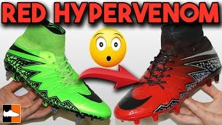 getlinkyoutube.com-How To Make Red Limit Hypervenom - Nike Spray Paint Custom Boots