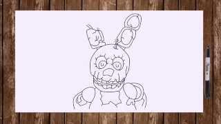 Speed drawing FNAF 3 all Phantom characters - Chica, Foxy, Freddy, Mangle, Puppet, Springtrap