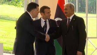 Los dos hombres fuertes de Libia acuerdan un alto el fuego en París