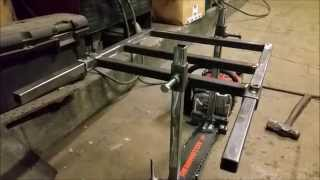 getlinkyoutube.com-Building an Alaskan Chain Saw Mill