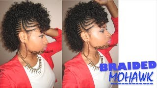 getlinkyoutube.com-#BAWSE BRAIDED MOHAWK | Natural Hair Tutorial