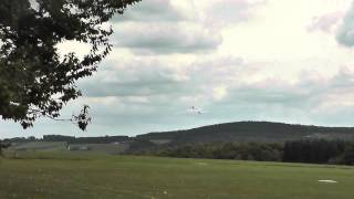 getlinkyoutube.com-Mystique 2,9  von E-flite  Landeversuche nach Erstflug