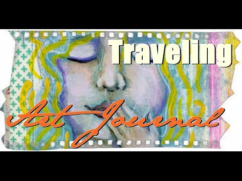 Art Journal Page Ideas, How to paint a face. Traveling Journal