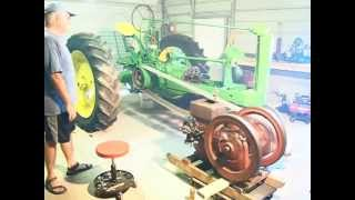 getlinkyoutube.com-Hit & Miss  engine turning over  John Deere tractor
