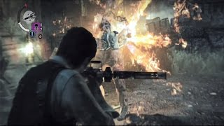 getlinkyoutube.com-THE EVIL WITHIN Tips and Tricks - Chapter 3 - How to Kill Mr Chainsaw Guy