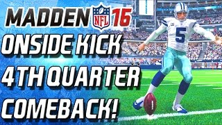 getlinkyoutube.com-ONSIDE KICK! 4TH QUARTER COMEBACK THRILLER! - Madden 16 Ultimate Team