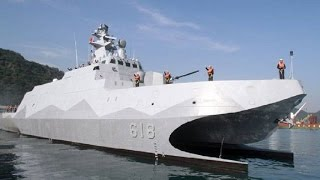 挑戰新聞軍事精華版--海軍放棄匿蹤性穿浪雙船體設計?前立委:沱江艦投資全浪費