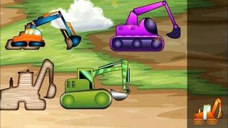 เกมส์ปริศนารถตักดิน รถบรรทุก รถดันดิน, รถเครนและอื่น ๆ อีกมากมาย!