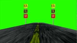 getlinkyoutube.com-Airstrip Airplane runway - Green Screen Animation