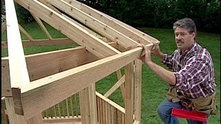 getlinkyoutube.com-How to build a Gazebo. DIY Timber Frame Wood back yard Gazebo. Simple woodwork Pergola & Round